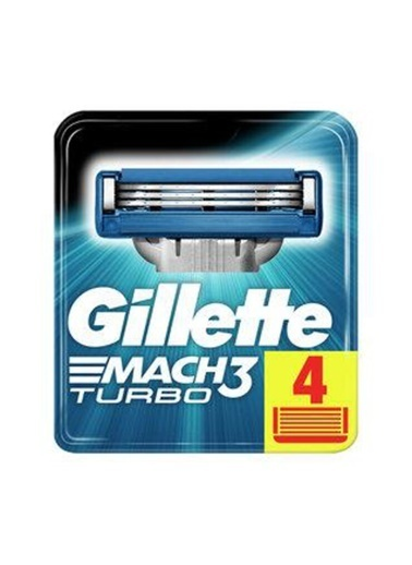 Gillette Gillette Mach 3 Turbo Yedek 4 Lü Renkli